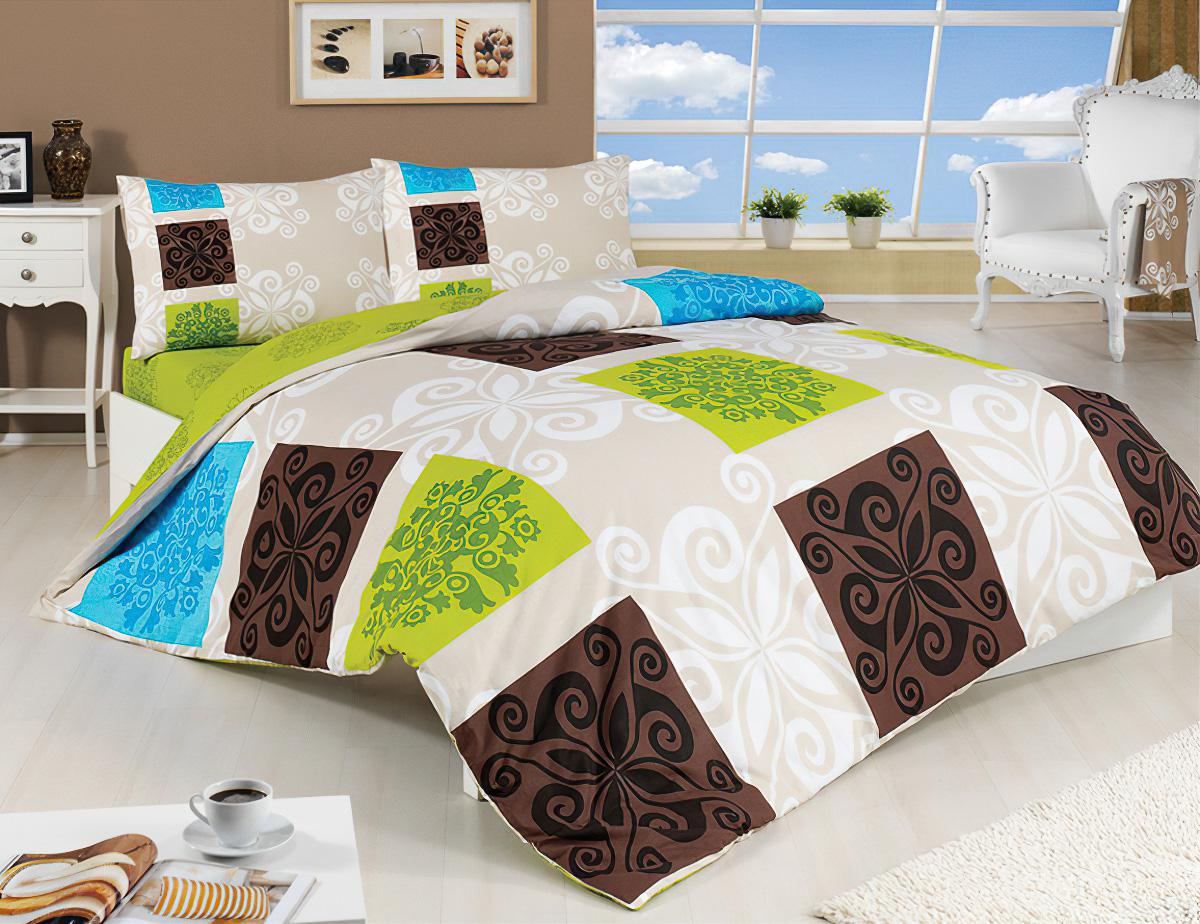 TipTrade Přehoz na postel SEDEF ZELENÝ, 220x240cm, dvoulůžkový