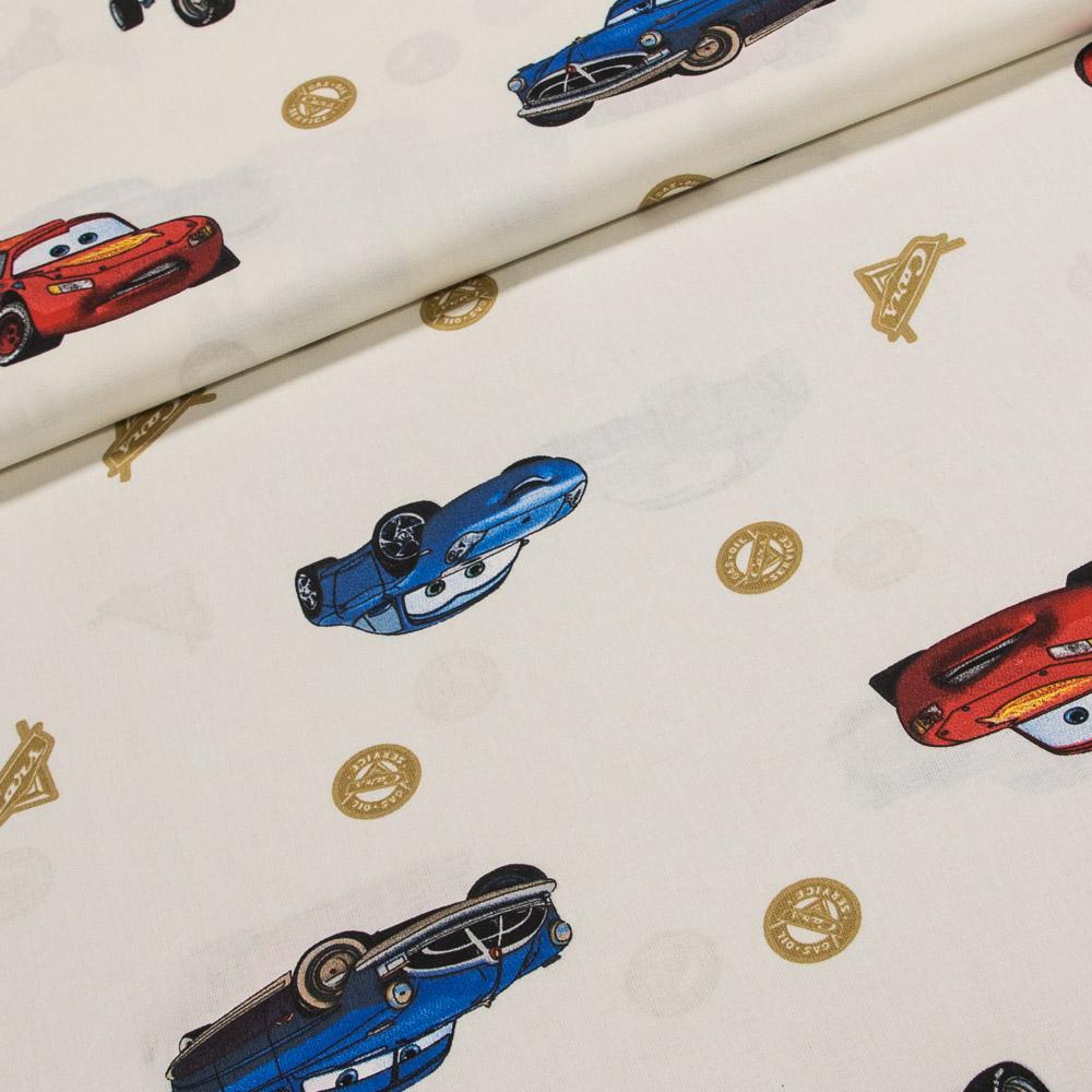 Hemmers Bavlněné plátno dětské PIXAR The Cars (AUTA), š.140cm (látka v metráži)