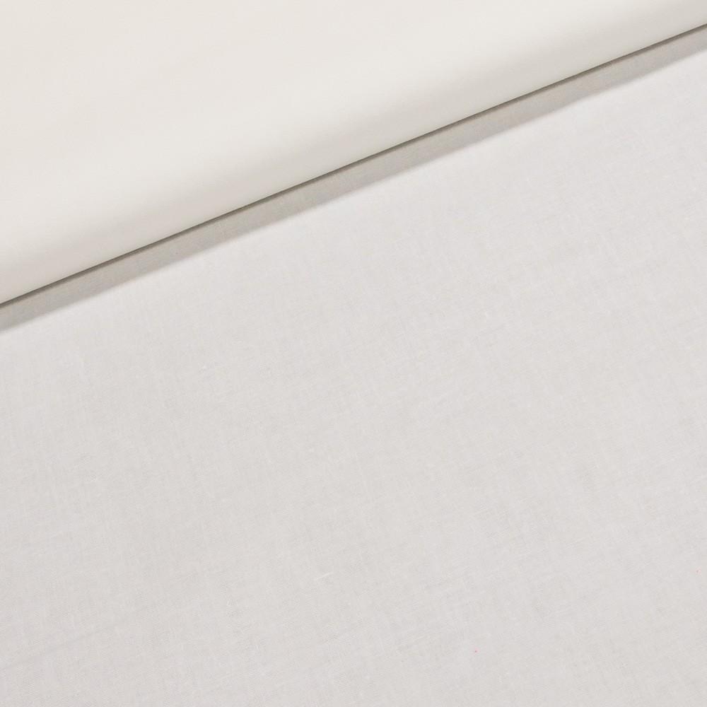 Bavlněné plátno DOMINIC UNI jednobarevná bílá, š.140cm (látka v metráži)