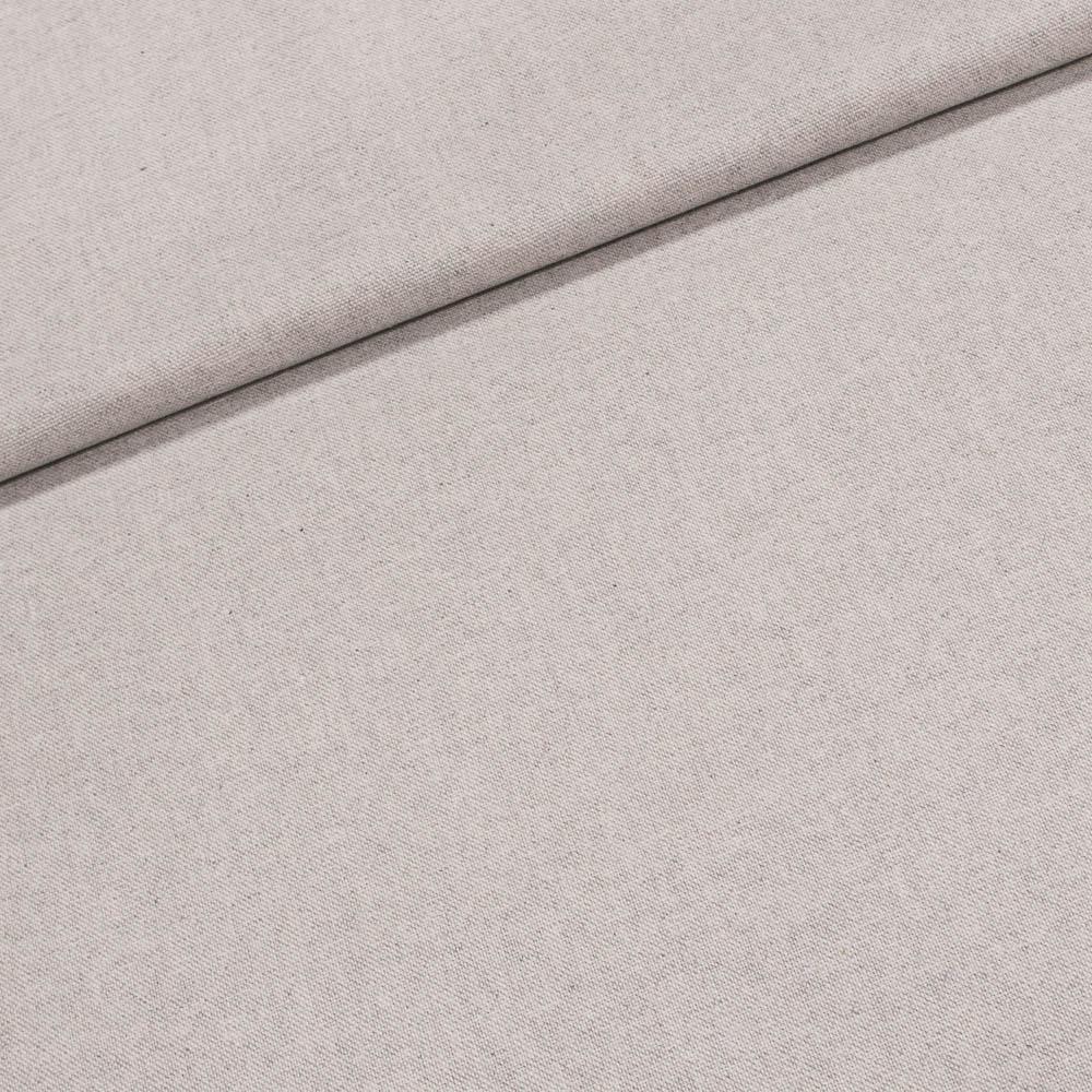 Směsové plátno jednobarevné PRADA uni přírodní šedá, š.140cm (látka v metráži)