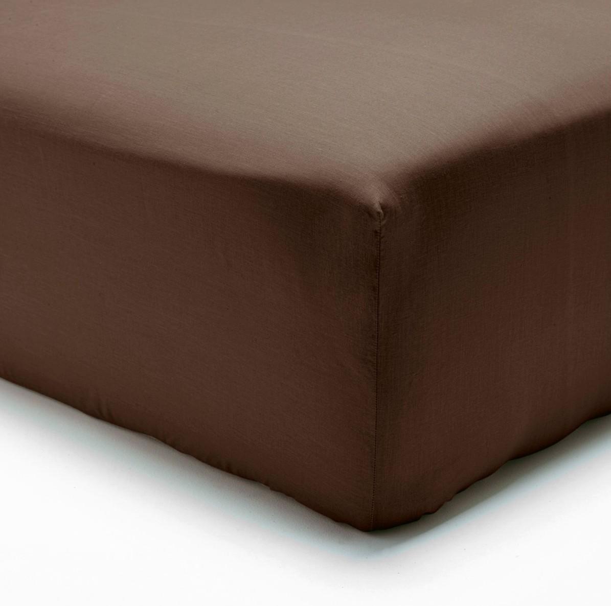 Polášek jersey prostěradlo 140x200cm, tmavě hnědé