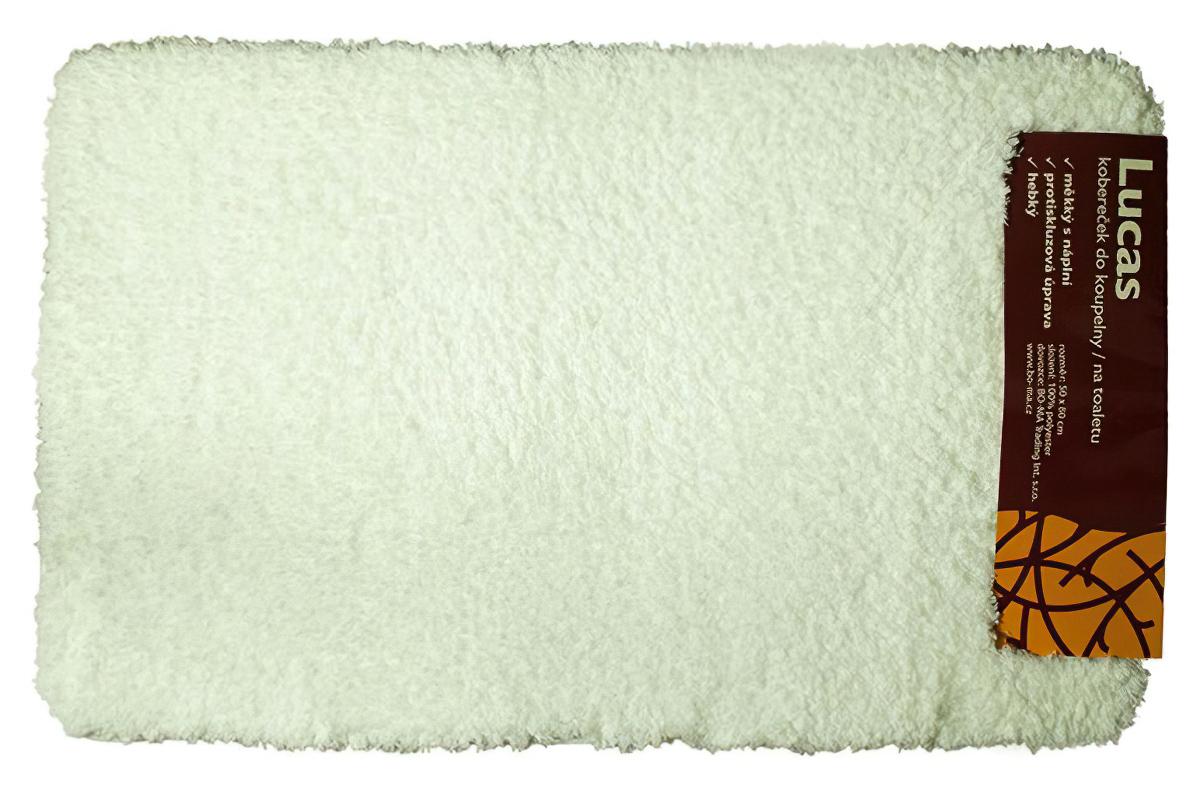 BO-MA koupelnová předložka LUKAS bílá, 80x50cm (předložka)
