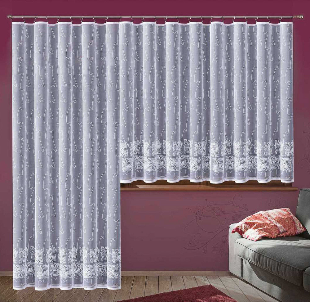 Forbyt kusová záclona ADRIANA jednobarevná bílá, výška 250 cm x šířka 200 cm (na dveře)