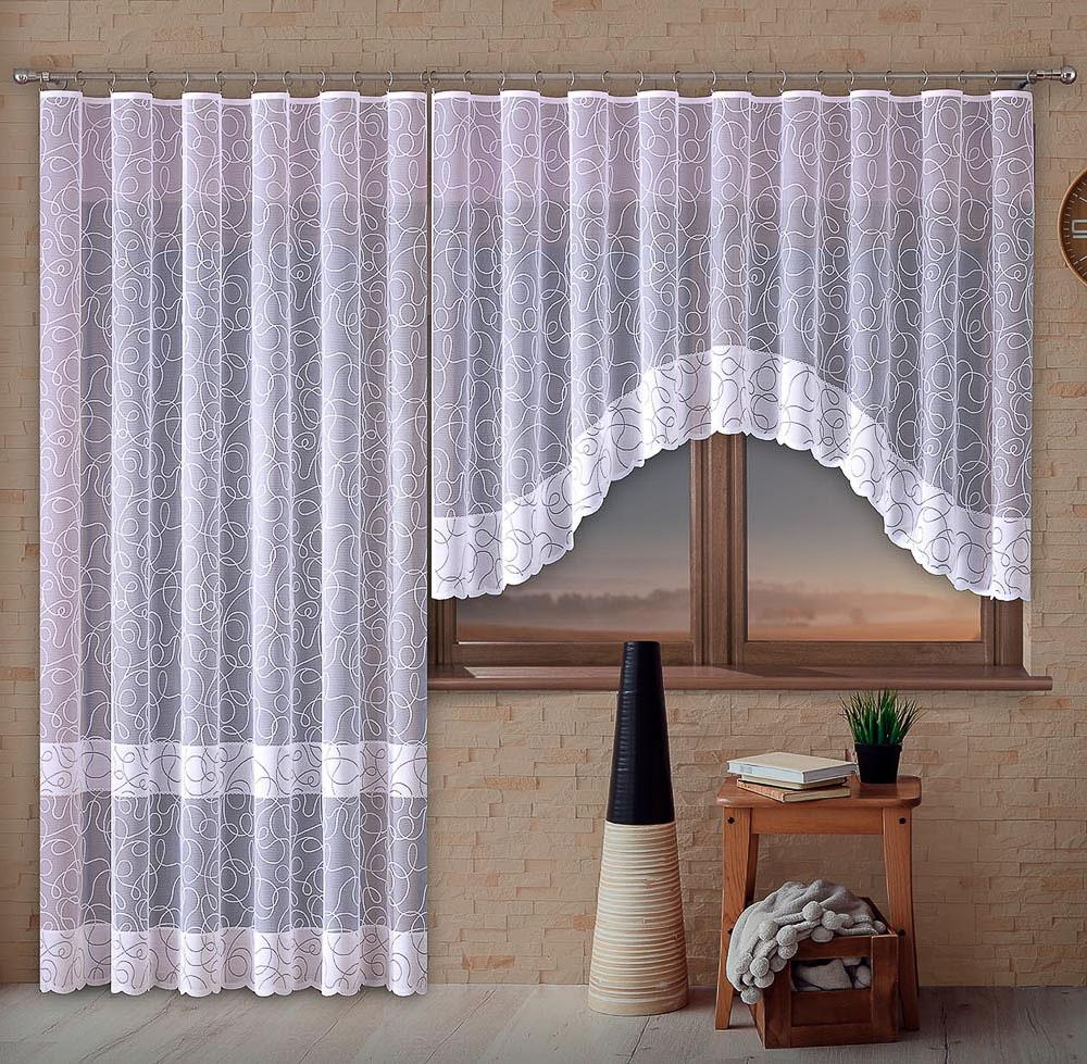Forbyt kusová záclona MARTINA jednobarevná bílá, výška 250 cm x šířka 200 cm (na dveře)