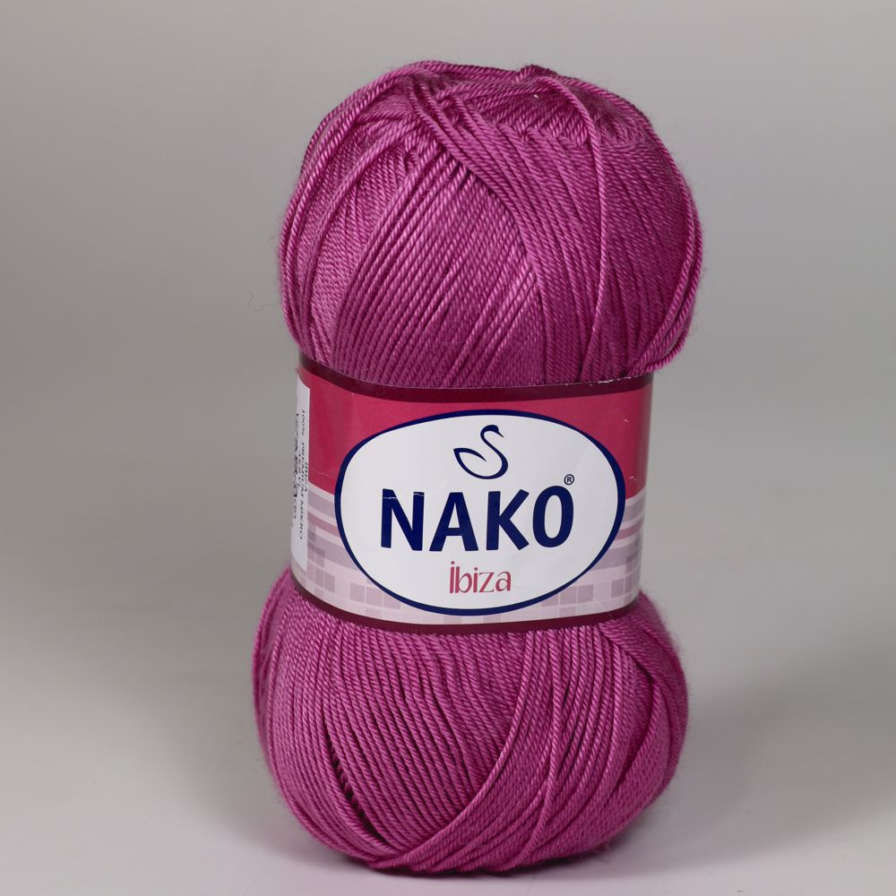 Pletací / háčkovací příze Nako IBIZA 10355 starorůžová, jednobarevná, 100g/350m
