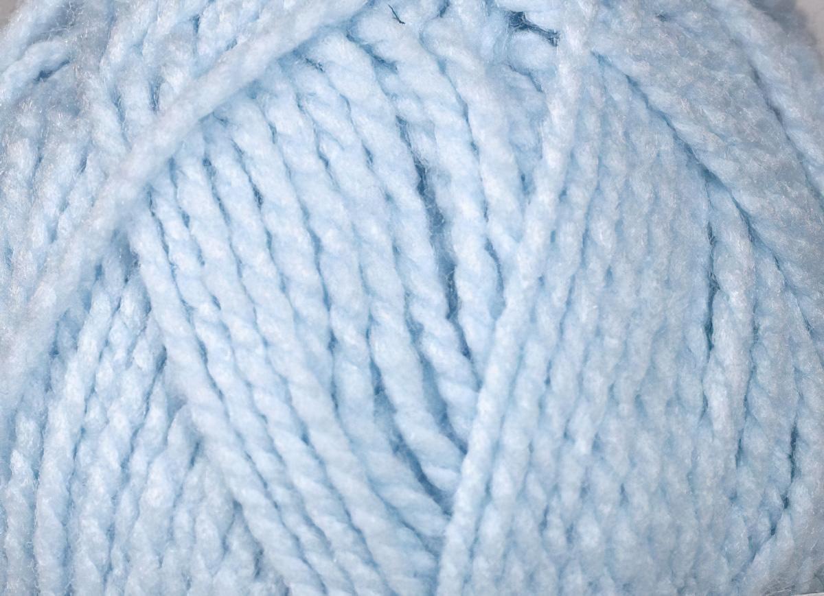 Pletací příze Vlnap YETTI 56220 světle modrá, klasická, 100g/147m