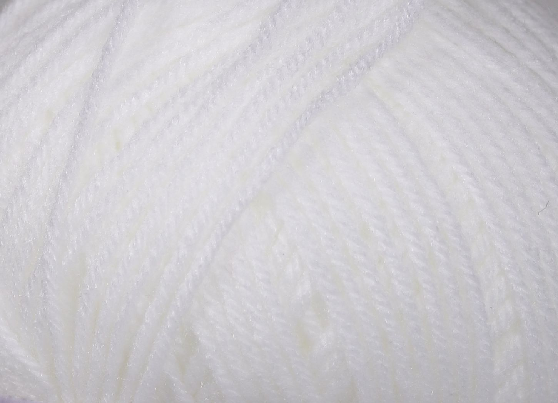 Pletací příze Vlnika BABETA 1 bílá, klasická, 100g/320m