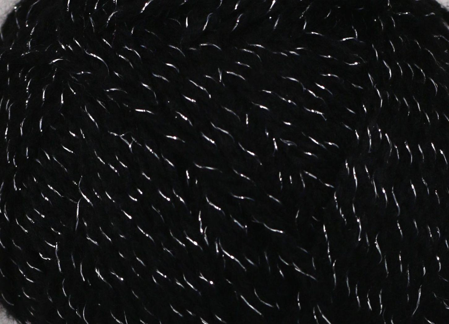 Pletací příze Vlnika LUMINA 701 černá, efektní, 100g/290m