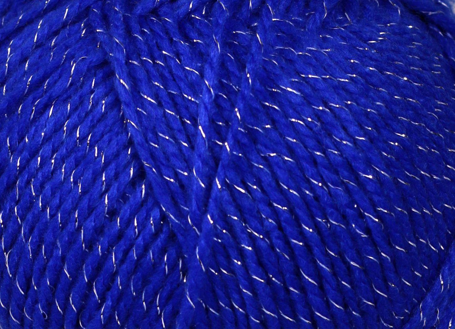 Pletací příze Vlnika LUMINA 707 modrá, efektní, 100g/290m