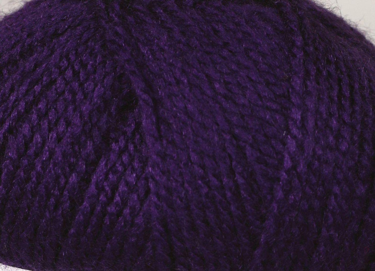 Pletací příze Vlnika TERA 46 tmavě fialová, klasická, 100g/310m
