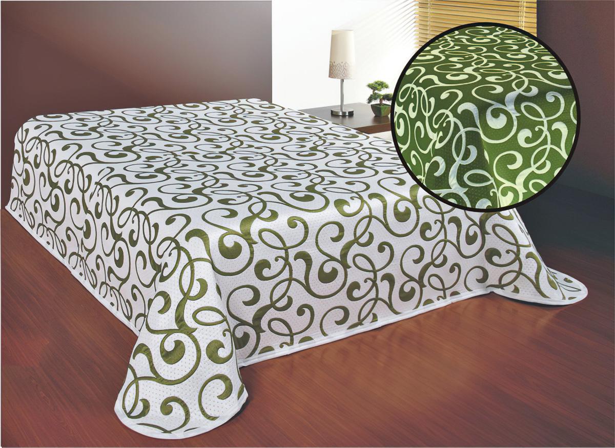Forbyt Přehoz na postel SERENA ZELENÝ, 240x260cm, dvoulůžkový