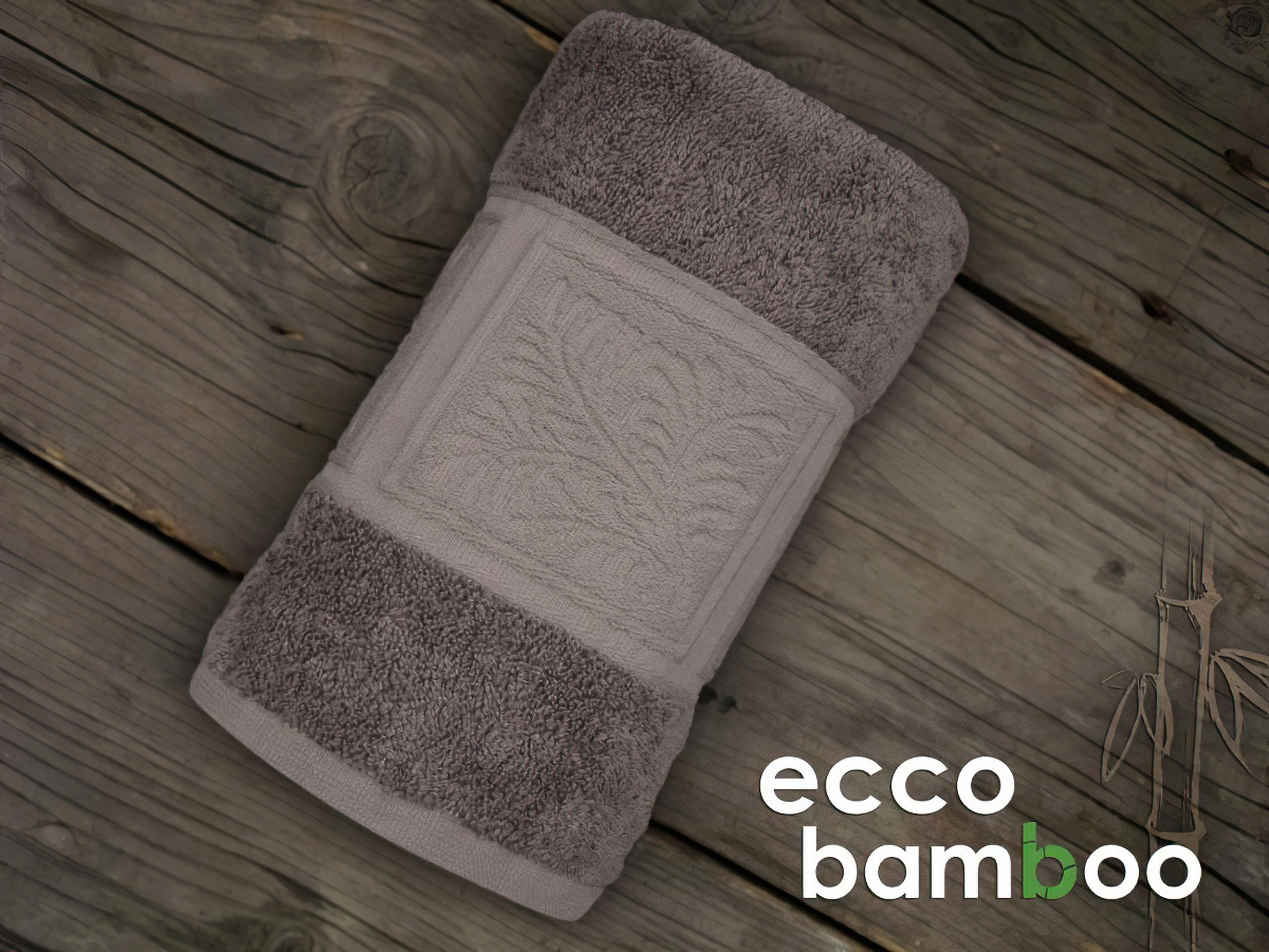 Greno froté osuška ECCO BAMBOO, hnědá, 70x140cm