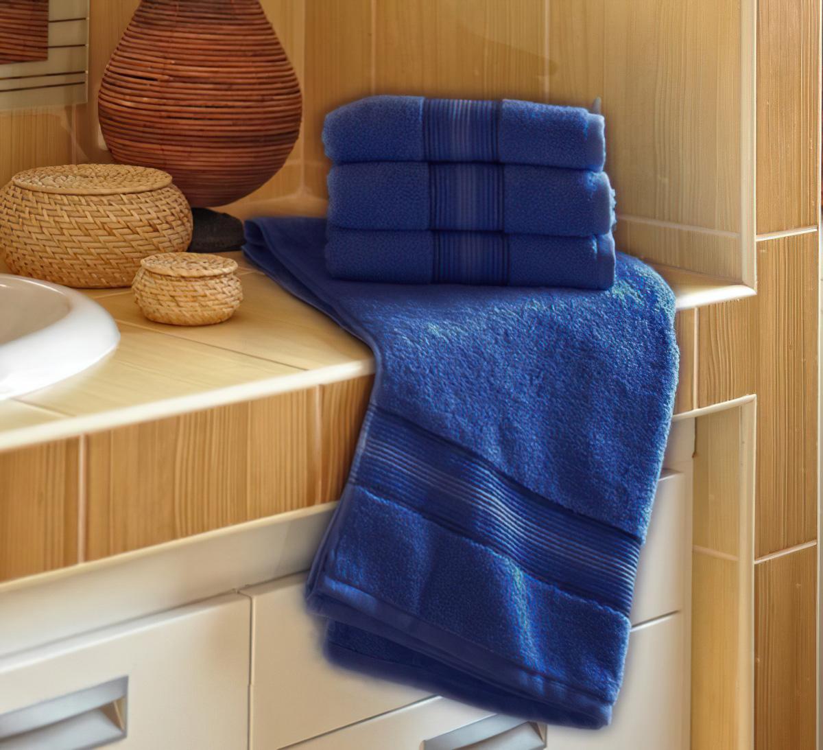 Jiří Polášek mikrofroté ručník DITA, tmavě modrá, 50x100cm
