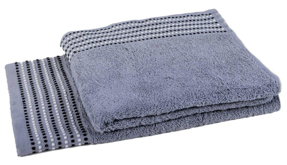 Forbyt froté ručník DOTS, šedý, 50x90cm