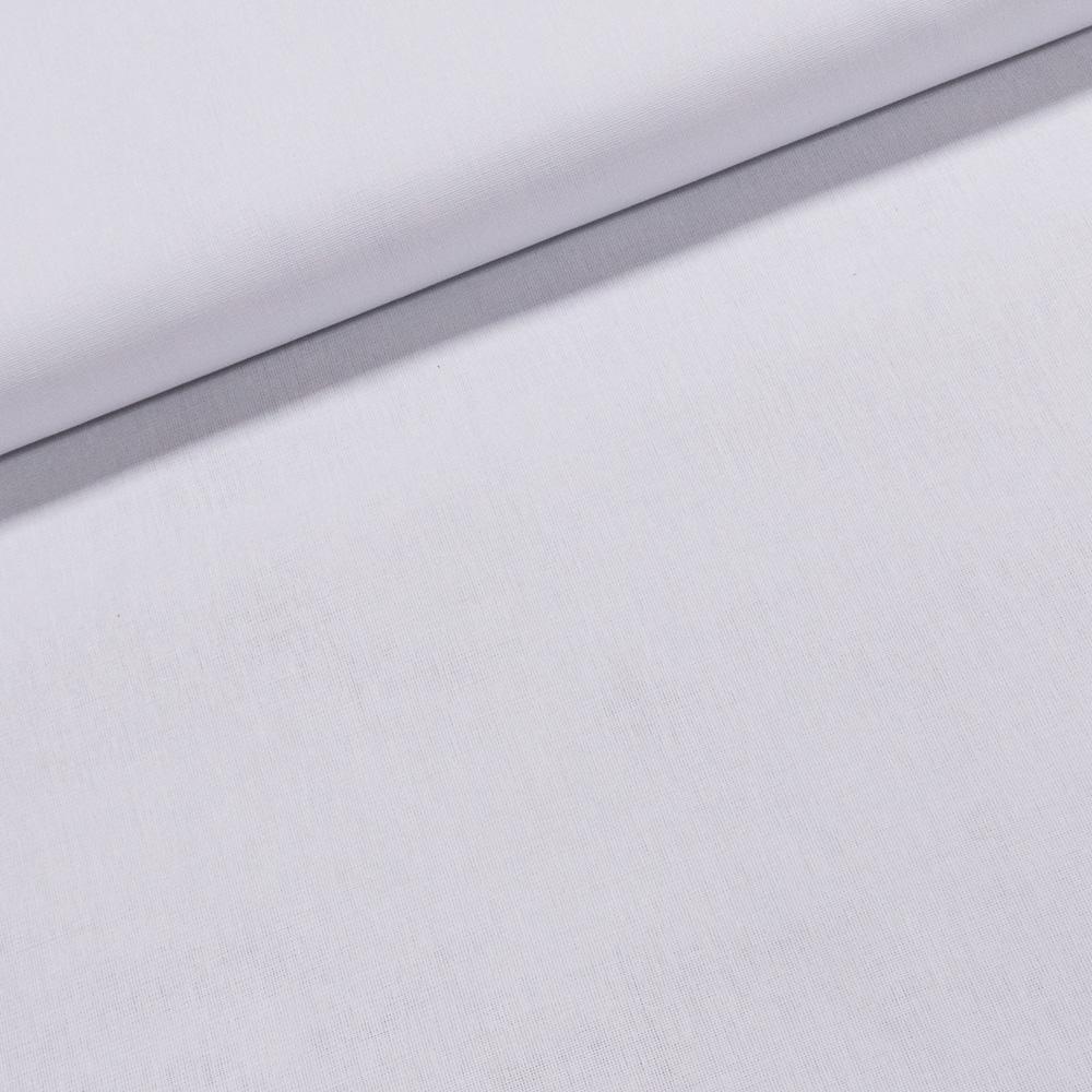 Vyšívací látka Tesilen SAMANTA jednobarevná bílá, š.140cm (látka v metráži)