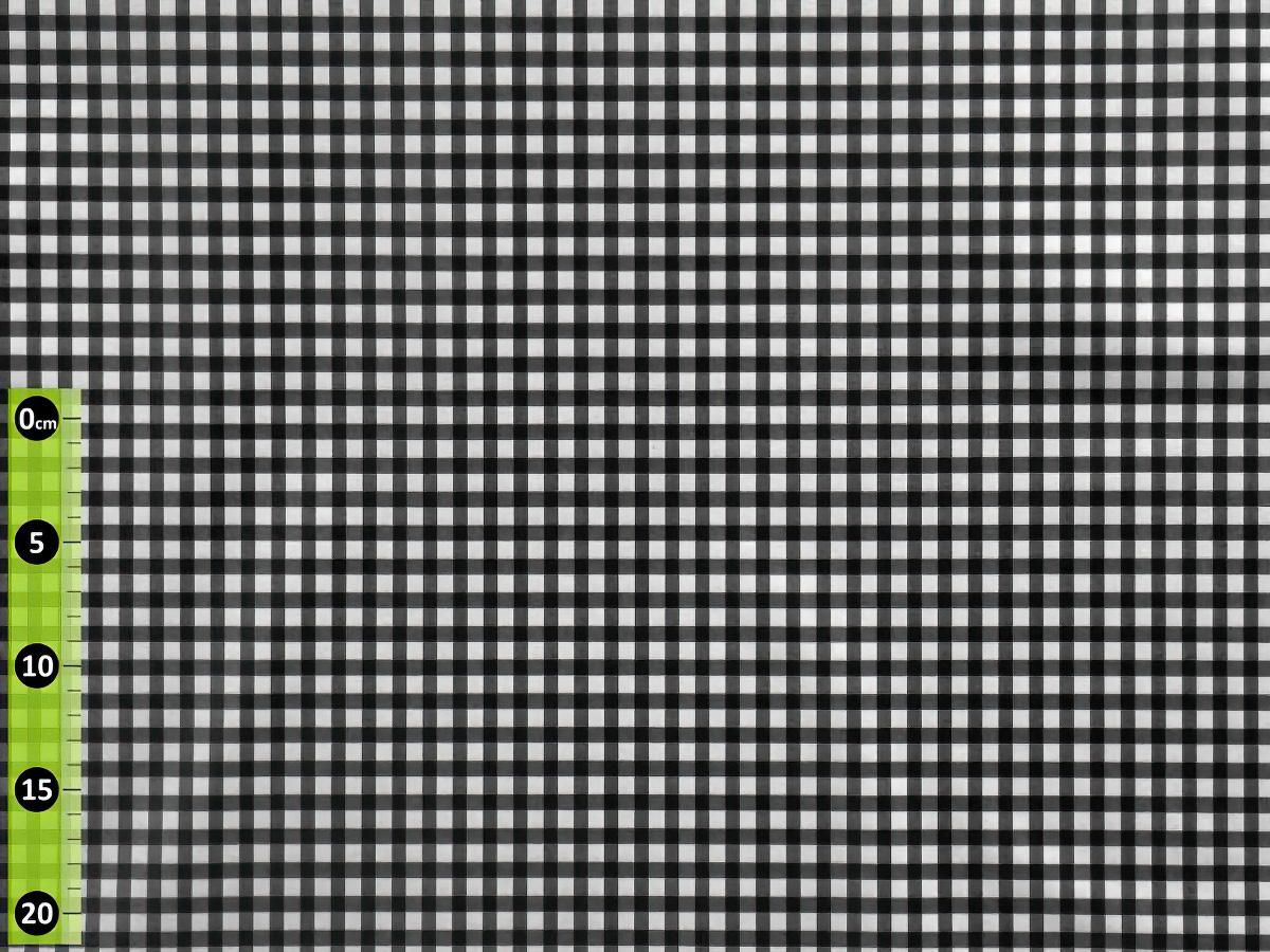 Fatra Ubrus PVC průhledný 1490G, bílá kostička, š.130cm (metráž)