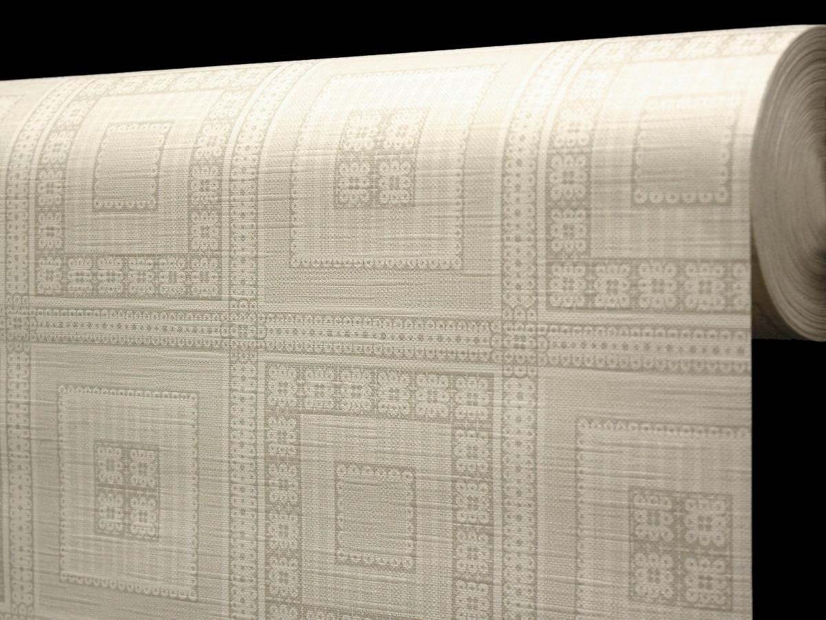Ergis Ubrus PVC s textilním podkladem 5700710, béžové čtverce, š.140cm (metráž)