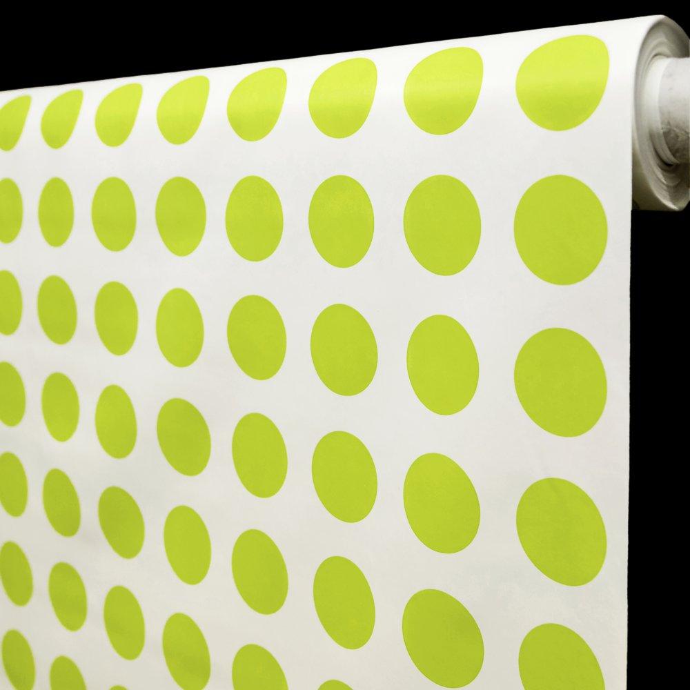 RexDeco Ubrus PVC 16J/05 bílá, zelené puntíky, š.140cm (metráž)