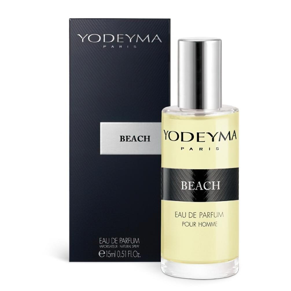 Yodeyma Unisex parfém BEACH Eau de Parfum, aromatický – dřevitý, 15ml