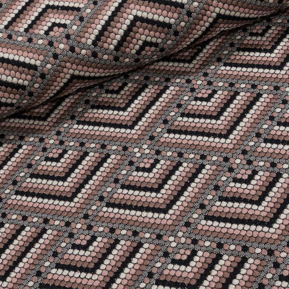 Směsový úplet 8784 starorůžové vystouplé puntíky v kosočtverci, š.150cm (látka v metráži)