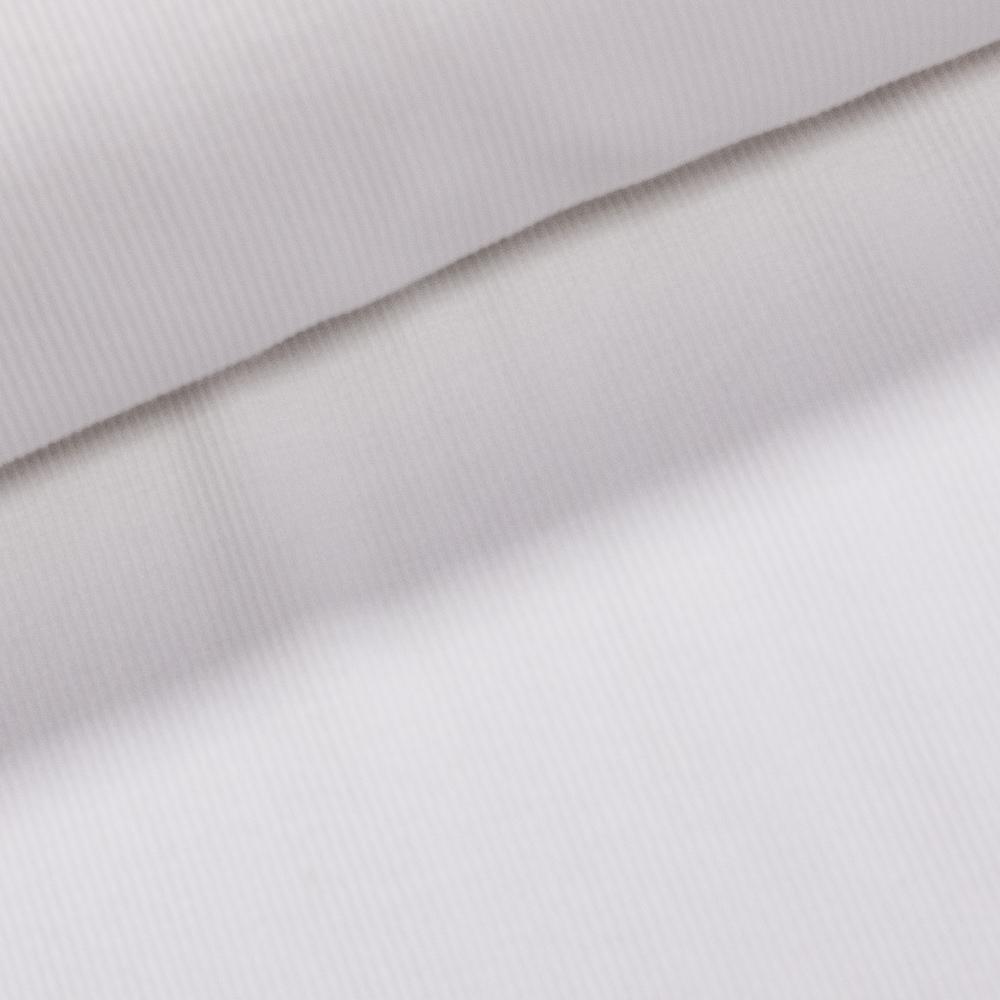 Žebrovaný bavlněný úplet 100.092-5003 uni jednobarevná bílá, š.27cm (látka v metráži)