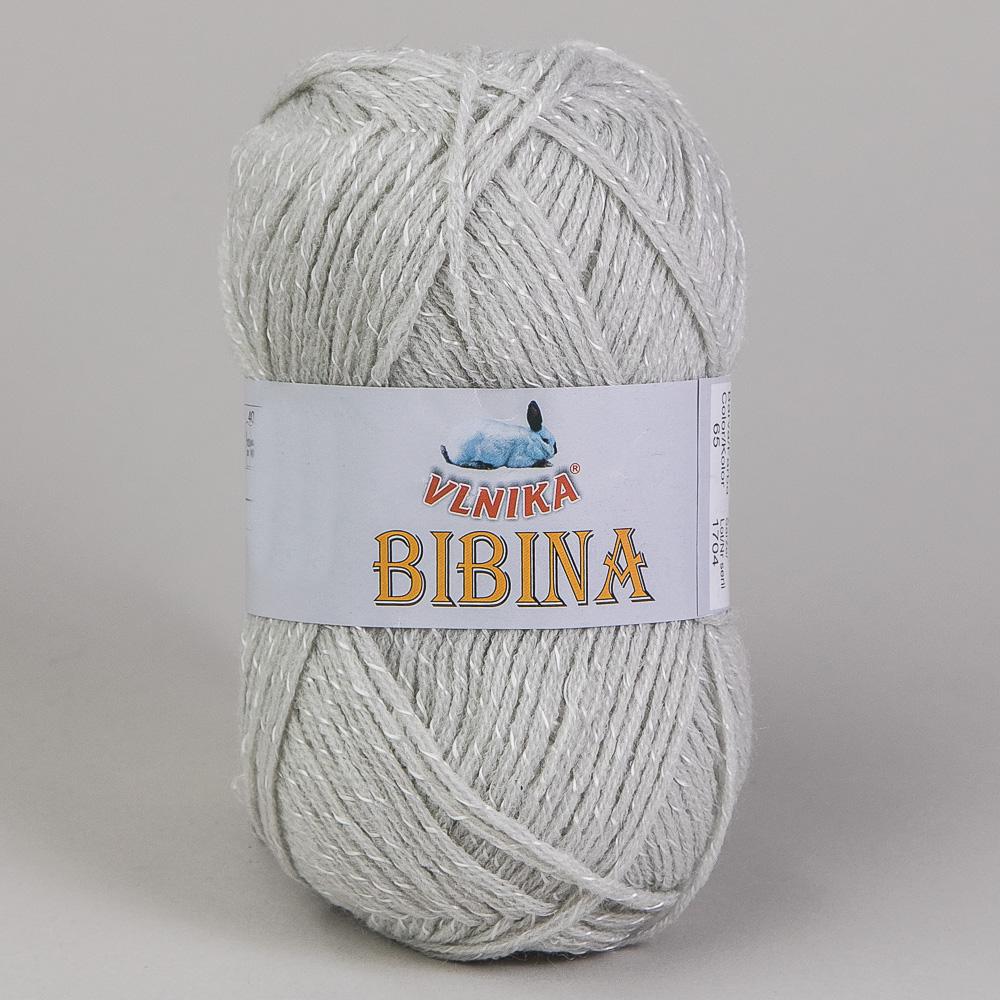 Pletací příze Vlnika BIBINA 65 světle šedá, efektní, 50g/130m