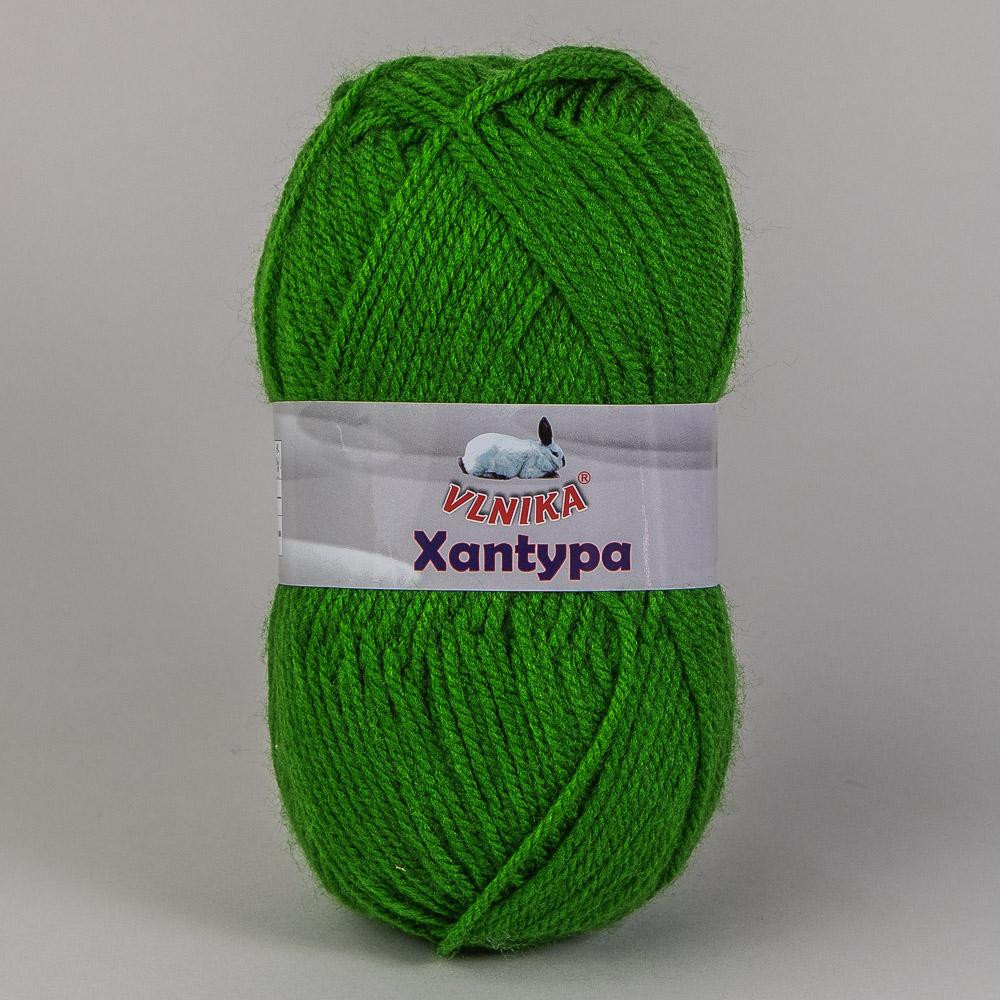 Pletací příze Vlnika XANTYPA 457 tmavě zelená, klasická, 100g/200m