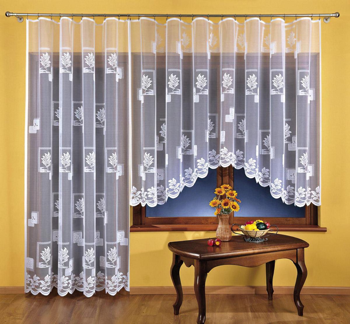 Forbyt kusová záclona SABINA BÍLÁ jednobarevná bílá, výška 150 cm x šířka 300 cm (na okno)