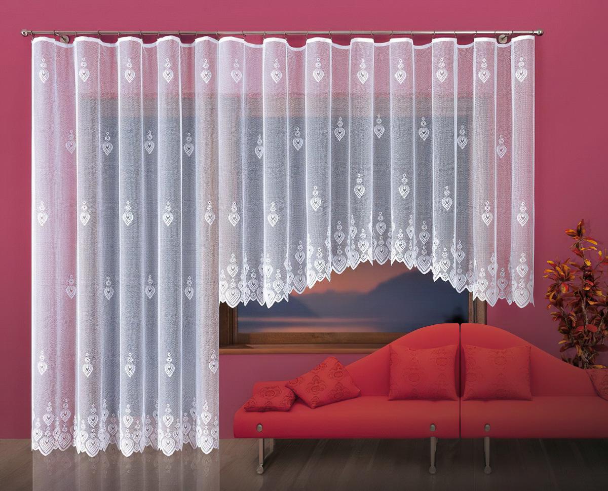 Forbyt kusová záclona HELGA jednobarevná bílá, výška 250 cm x šířka 200 cm (na dveře)