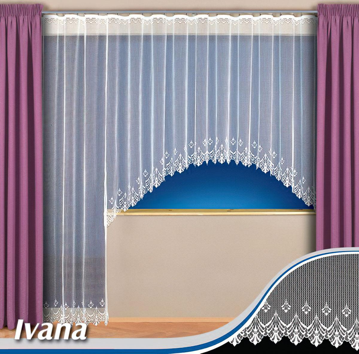Tylex kusová záclona IVANA jednobarevná bílá, výška 250 cm x šířka 200 cm (na dveře)