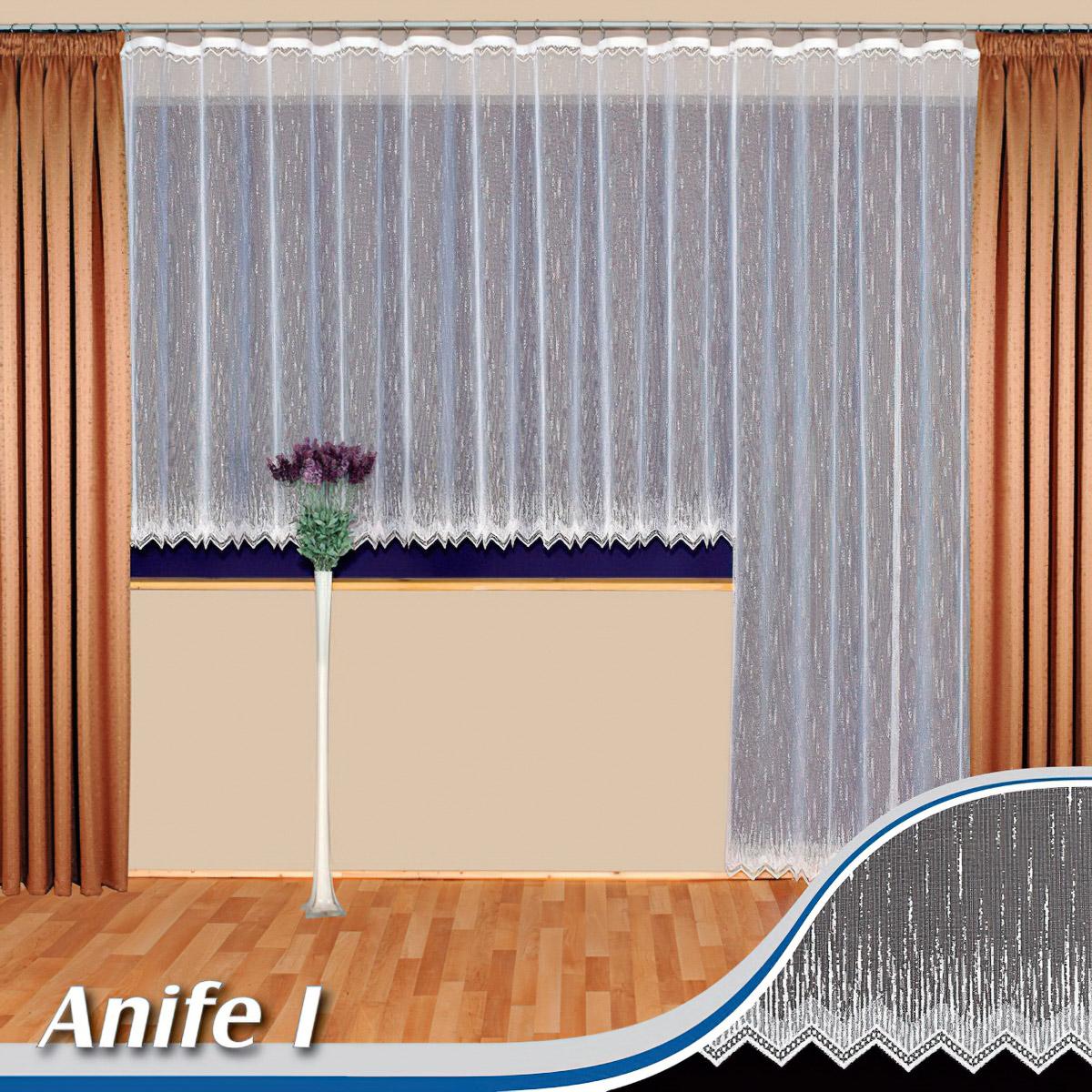 Tylex kusová záclona ANIFE1/2 jednobarevná bílá, výška 250 cm x šířka 200 cm (na dveře)