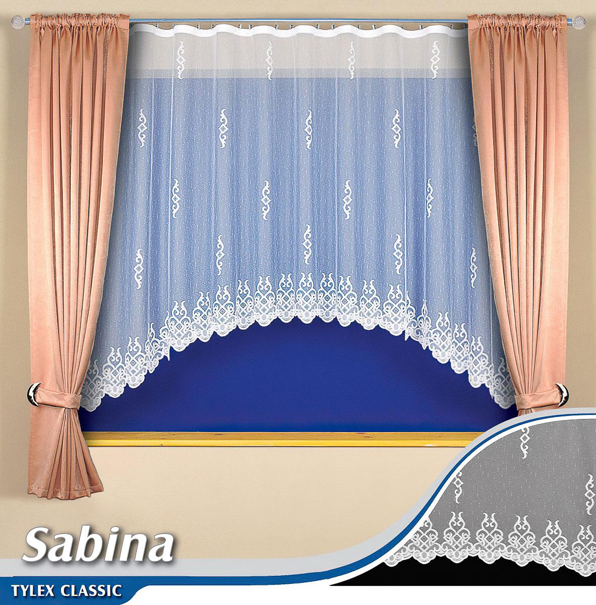 Tylex kusová záclona SABINA K7143 jednobarevná bílá, výška 160 cm x šířka 280 cm (na okno)