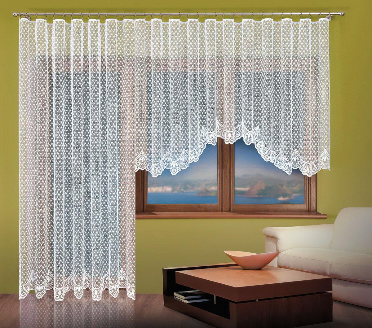 Forbyt kusová záclona SANDRA jednobarevná bílá, výška 160 cm x šířka 400 cm (na okno)