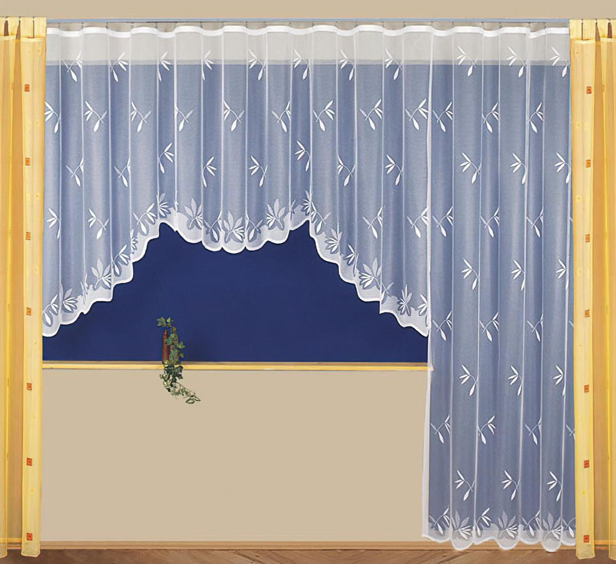 Tylex kusová záclona SELMA jednobarevná bílá, výška 250 cm x šířka 170 cm (na dveře)