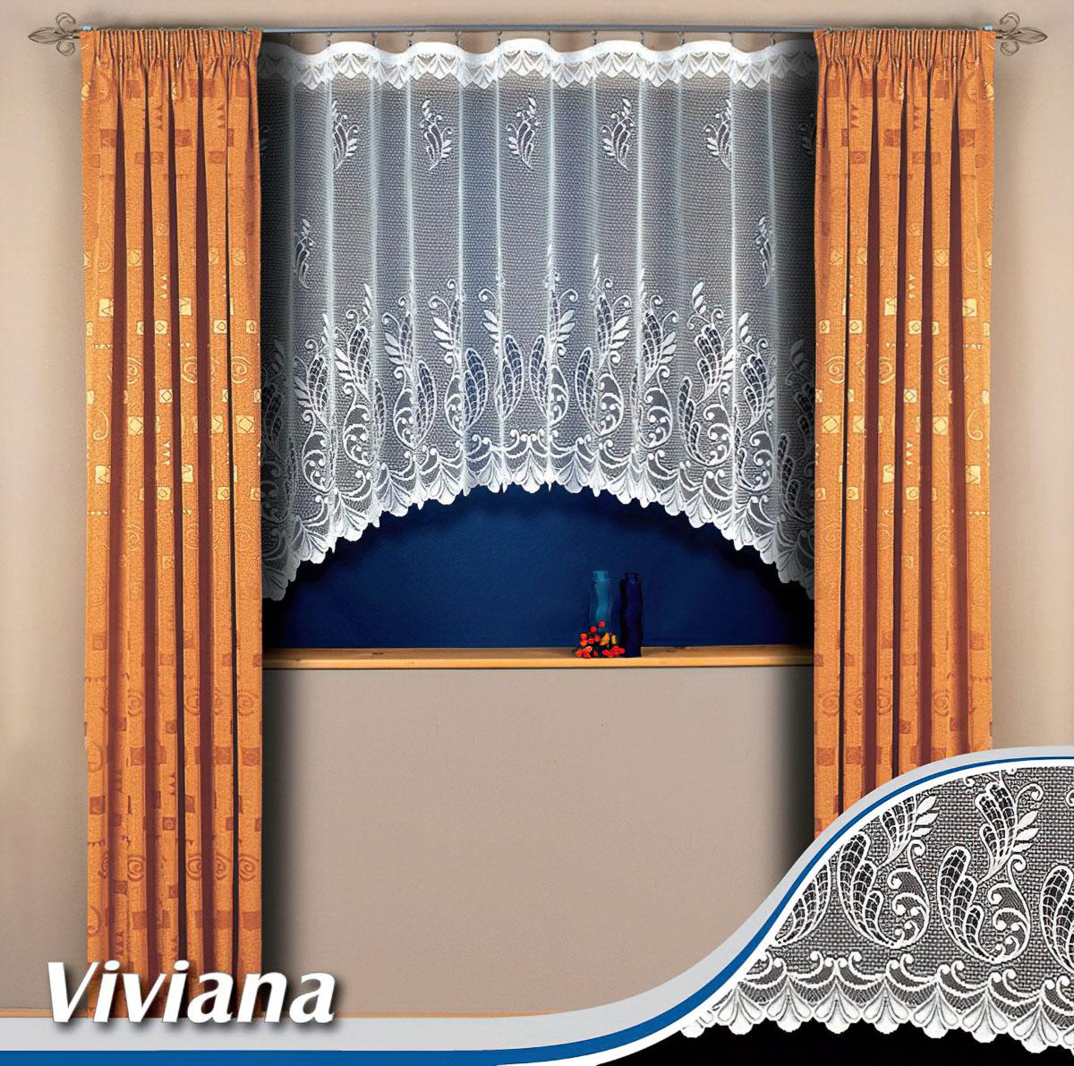 Tylex kusová záclona VIVIANA jednobarevná bílá, výška 250 cm x šířka 210 cm (na dveře)