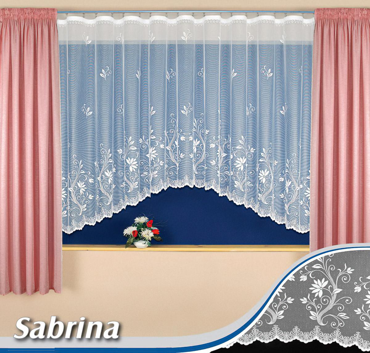 Tylex kusová záclona SABRINA jednobarevná bílá, výška 160cm x šířka 350cm (na okno)