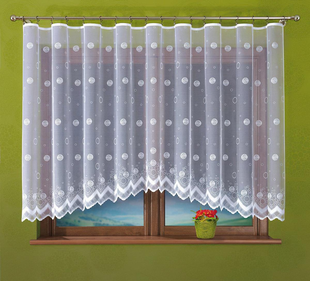 Forbyt kusová záclona VANESSA jednobarevná bílá, výška 160 cm x šířka 400 cm (na okno)