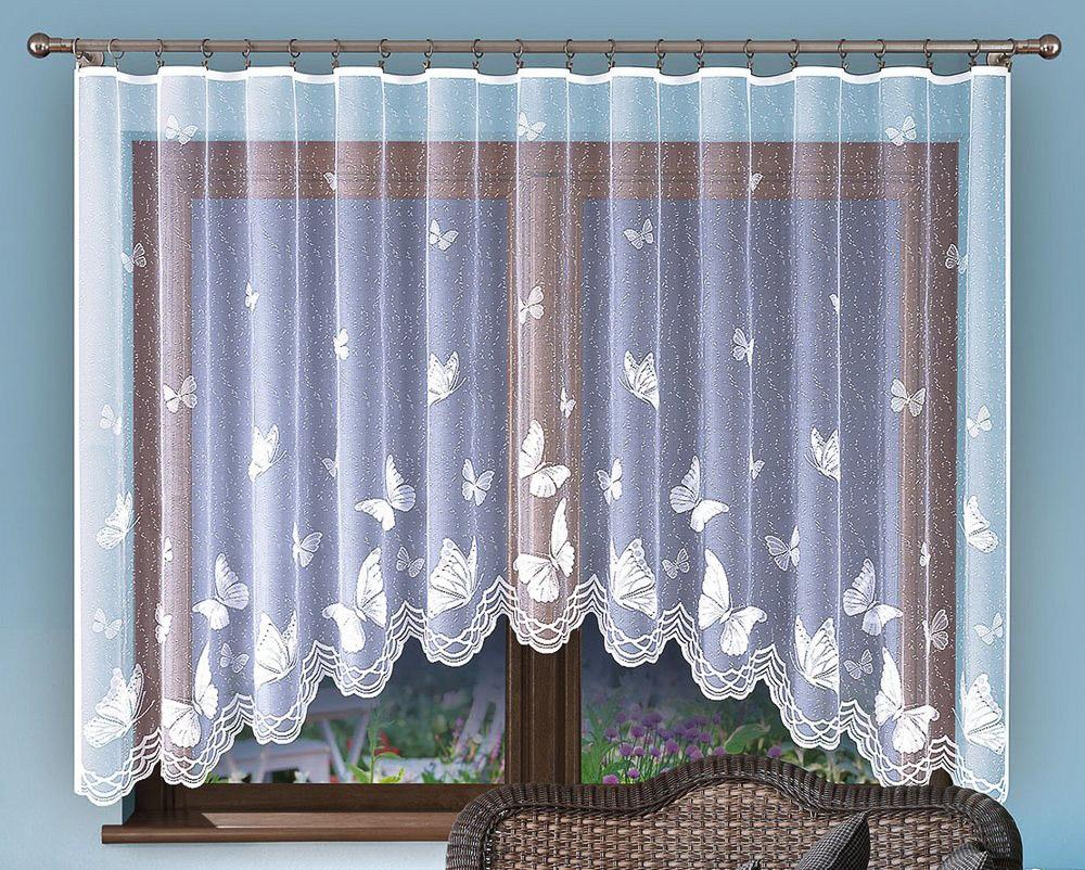 Forbyt kusová záclona EMANUEL jednobarevná bílá, výška 150 cm x šířka 300 cm (na okno)