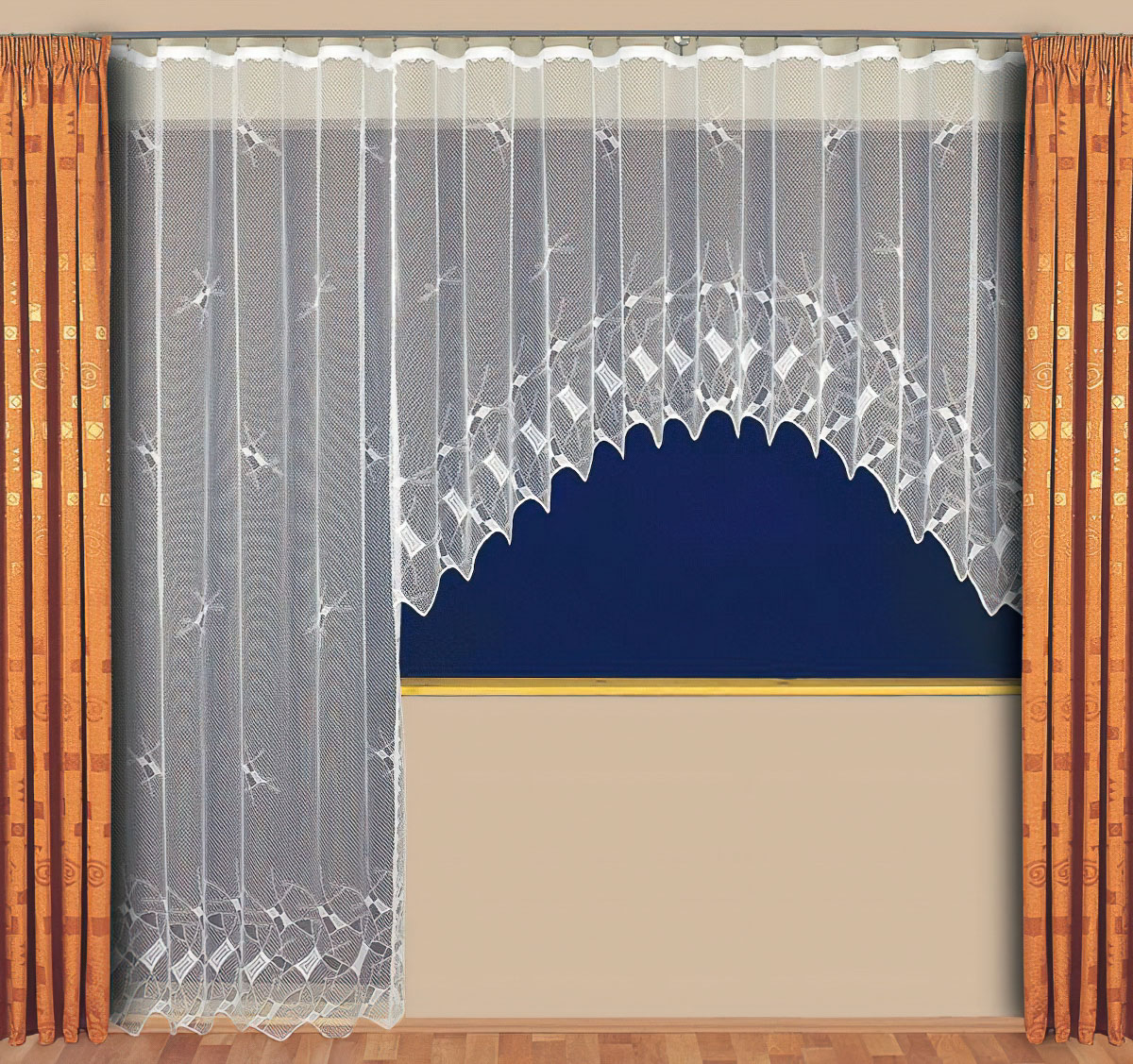 Tylex kusová záclona CALLISTO jednobarevná bílá, výška 250 cm x šířka 210 cm (na dveře)