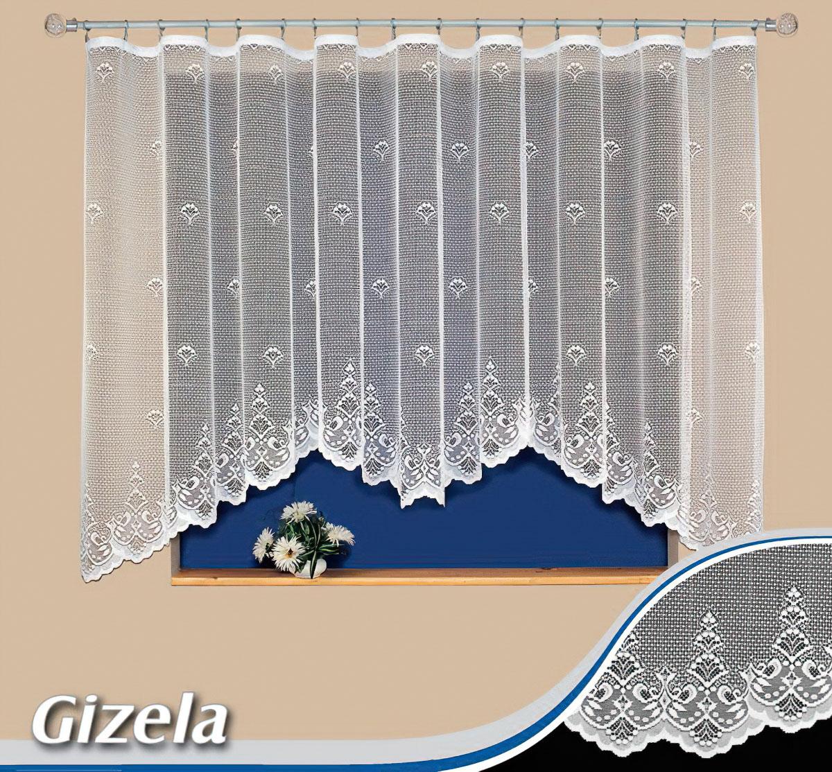 Tylex kusová záclona GIZELA jednobarevná bílá, výška 160 cm x šířka 350 cm (na okno)