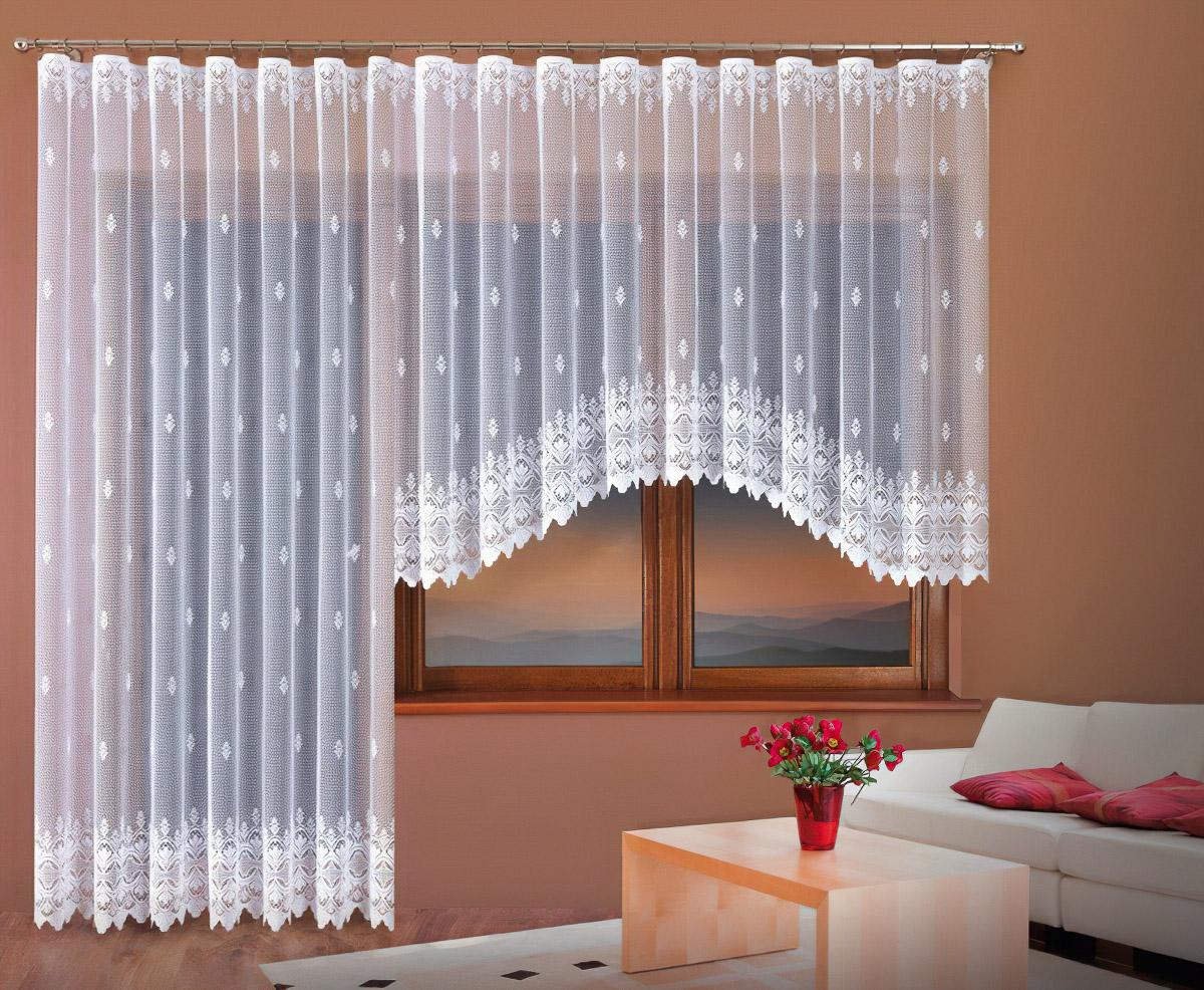 Forbyt kusová záclona ANASTÁZIE jednobarevná bílá, výška 250 cm x šířka 200 cm (na dveře