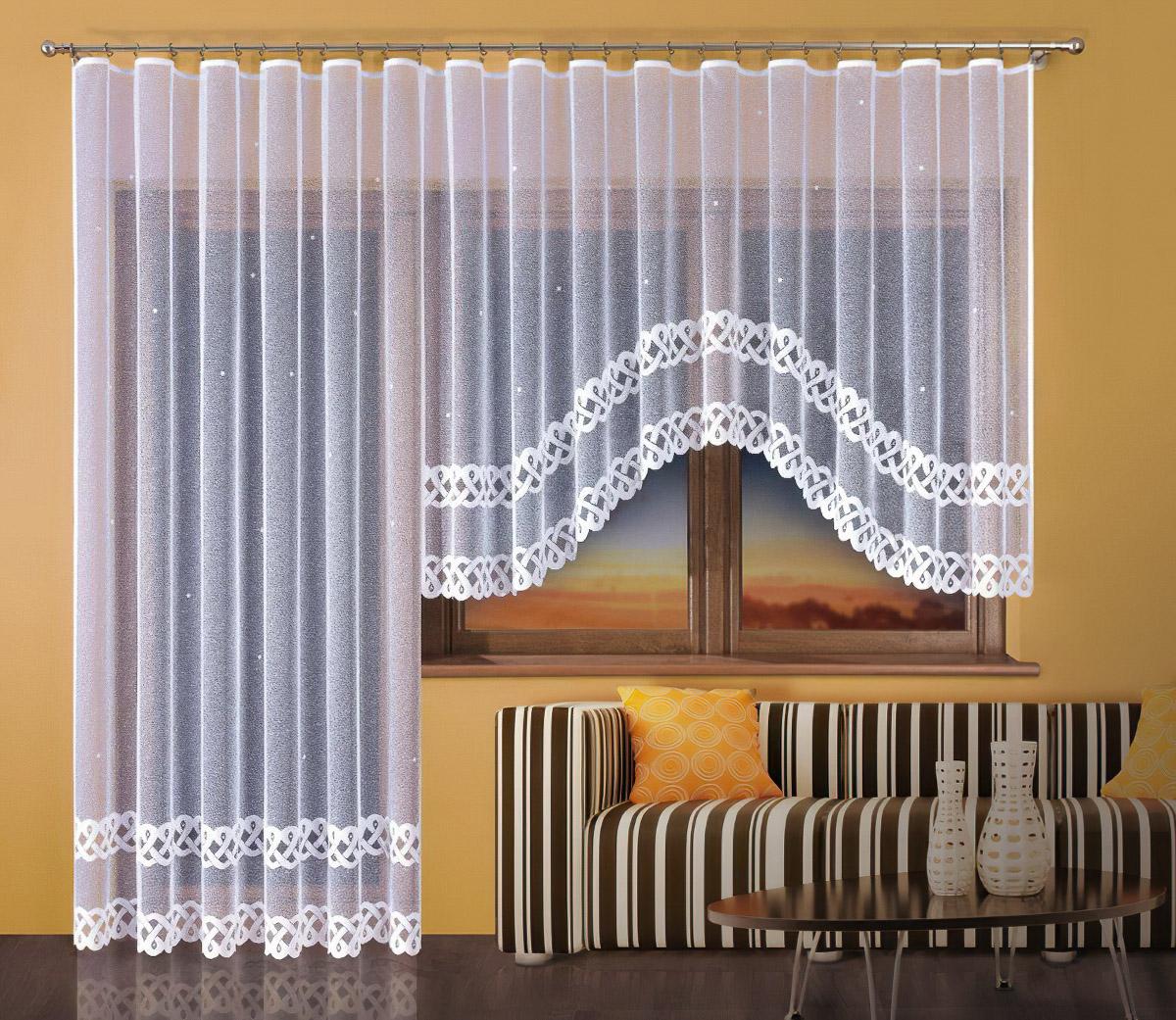 Forbyt kusová záclona EMA jednobarevná bílá, výška 150 cm x šířka 300 cm (na okno)