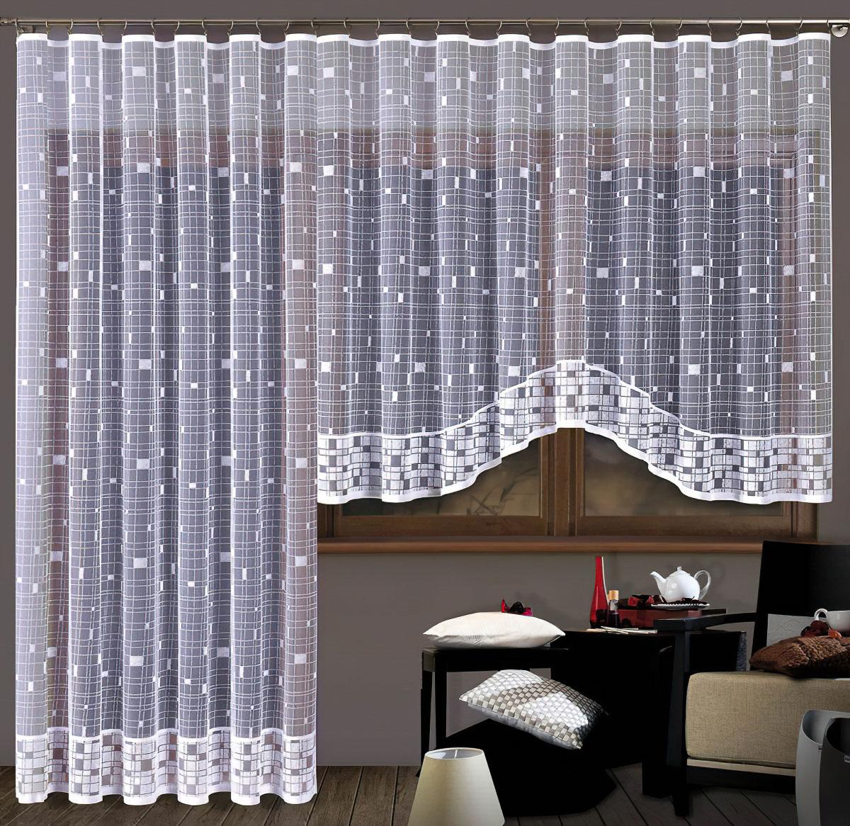 Forbyt kusová záclona VALERIA jednobarevná bílá, výška 250 cm x šířka 200 cm (na dveře)